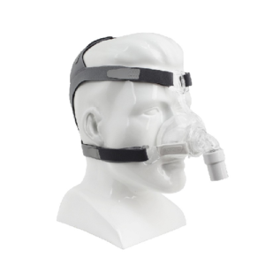 maschera nasale in silicone per ventilazione con cpap- trattamento delle apnee notturne- RESPIREO SOFT NASAL